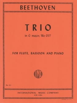 Trio G Major WoO 37 -Flute bassoon piano BEETHOVEN laflutedepan