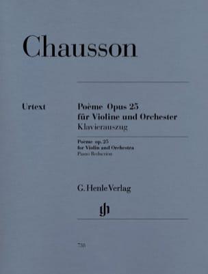 Poème pour Violon et Orchestre Op. 25 CHAUSSON Partition laflutedepan