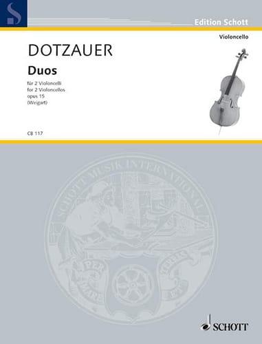 Duos op. 15 - Friedrich Dotzauer - Partition - laflutedepan.com
