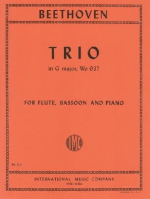 Trio G Major WoO 37 -Flute bassoon piano - laflutedepan.com