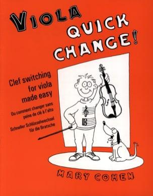 Viola Quick Change ! Mary Cohen Partition Alto - laflutedepan