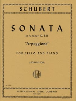 Sonata in A Minor D. 821 Arpeggione - Cello SCHUBERT laflutedepan