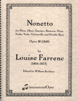 Nonetto Op. 38 1849 Louise Farrenc Partition Sextuors - laflutedepan
