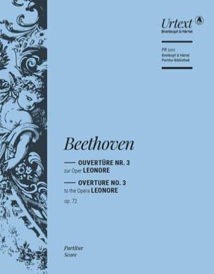 Leonore N° 3 Op. 72 Ouverture BEETHOVEN Partition laflutedepan