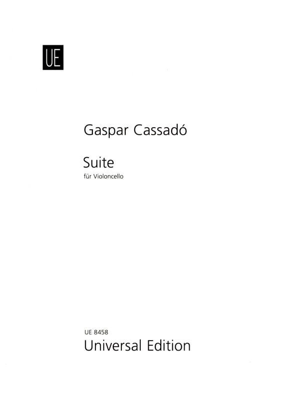 Suite per Violoncello solo - Gaspar Cassado - laflutedepan.com