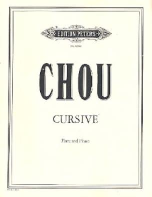 Cursive - Wen-Chung Chou - Partition - laflutedepan.com