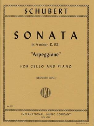 Sonata in A Minor D. 821 Arpeggione - Cello - laflutedepan.com