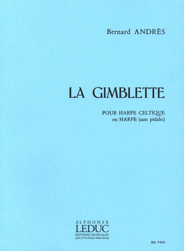 La Gimblette - Bernard Andrès - Partition - Harpe - laflutedepan.com