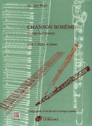 Chanson Bohème -2 flûtes et piano BIZET Partition laflutedepan