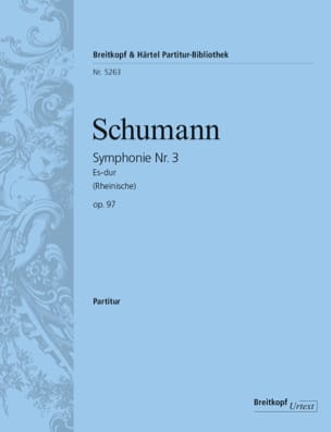 Symphonie Nr. 3 Es-Dur Op. 97 - Partitur SCHUMANN laflutedepan