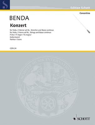 Viola-Konzert F-Dur Georg Benda Partition Grand format - laflutedepan