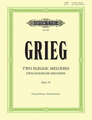 2 Elegische Melodien op. 34 - Partitur GRIEG Partition laflutedepan