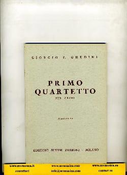 Primo Quartetto - Partitura - Giorgio F. Ghedini - laflutedepan.com