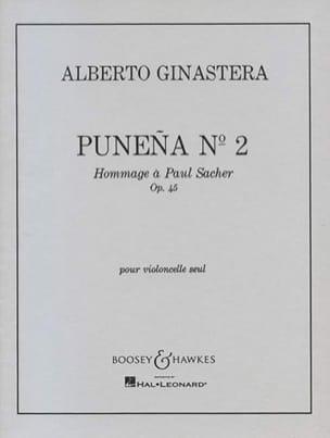 Punena n° 2 op. 45 GINASTERA Partition Violoncelle - laflutedepan