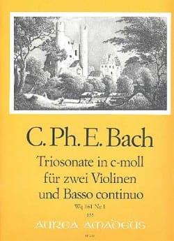 Sonate c-moll Wq 161 Nr. 1 Carl Philipp Emanuel Bach laflutedepan