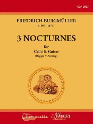 3 Nocturnes - Violoncelle et Guitare Friedrich Burgmüller laflutedepan