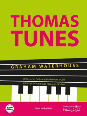Thomas Tunes - 8 pièces pour violoncelle et piano ou 2 violoncelles laflutedepan
