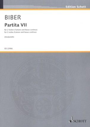 Partita VII - 2 Violes d'Amour et BC BIBER Partition laflutedepan