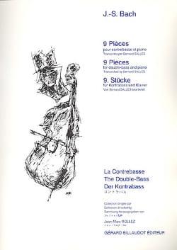 9 Pièces -Contrebasse et piano BACH Partition laflutedepan