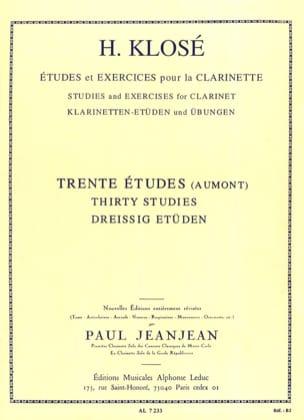 30 Etudes d'après Henry Aumont Hyacinthe Klosé Partition laflutedepan