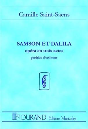 Samson et Dalila - Conducteur SAINT-SAËNS Partition laflutedepan