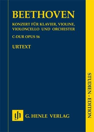 Concerto en Ut majeur op. 56 pour piano, violon, et violoncelle et d'orchestre laflutedepan