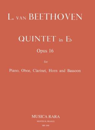 Quintette en Mi bémol, Opus 16 BEETHOVEN Partition laflutedepan