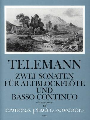 Zwei Sonaten - Altblockflöte u. Bc TELEMANN Partition laflutedepan
