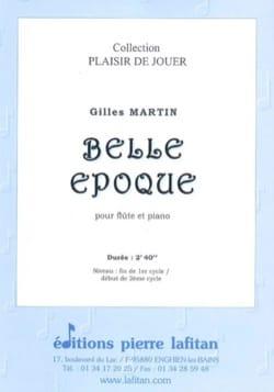 Belle époque Gilles Martin Partition Flûte traversière - laflutedepan