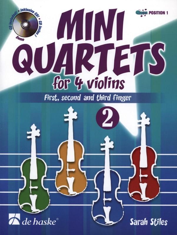 Mini Quartets For 4 Violins Vol.2 - Sarah Stiles - laflutedepan.com