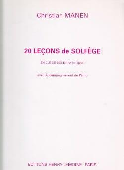 20 Leçons - 2 Clés - A/A Christian Manen Partition laflutedepan