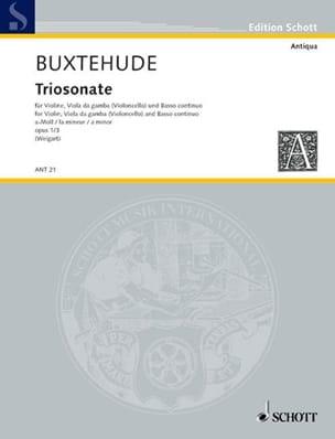 Triosonate a-Moll, op. 1/3 a-Moll - BUXTEHUDE - laflutedepan.com