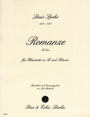 Romanze B-Dur - Klarinette Klavier SPOHR Partition laflutedepan