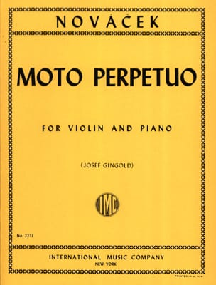 Moto Perpetuo Gingold Ottokar Novacek Partition Violon - laflutedepan