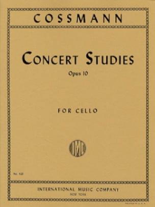 Concert Studies op.10 - Bernhard Cossmann - laflutedepan.com
