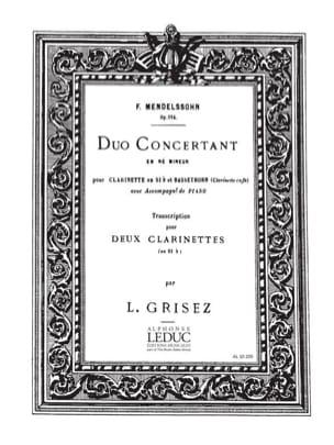Duo concertant op. 114 ré mineur MENDELSSOHN Partition laflutedepan