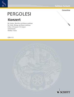 Violin-Konzert B-Dur - Partitur PERGOLESE Partition laflutedepan