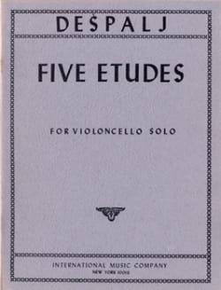 5 Etudes for violoncelle solo Valter Despalj Partition laflutedepan