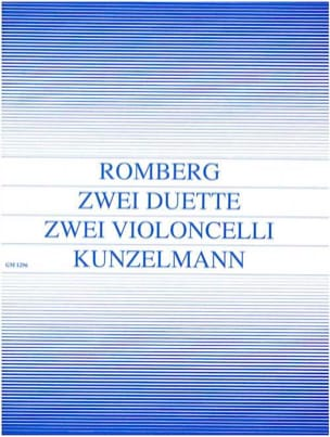 2 Duette op. 33 ROMBERG Partition Violoncelle - laflutedepan