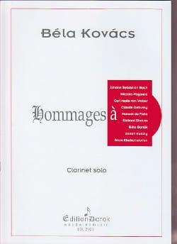 Hommages à ... Bela Kovacs Partition Clarinette - laflutedepan