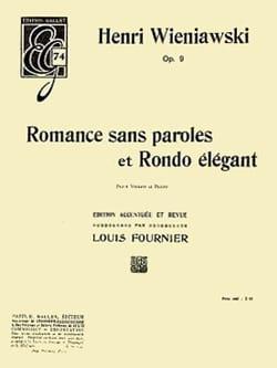 Romance Sans Paroles et Rondo Elégant Op.9 WIENAWSKI laflutedepan