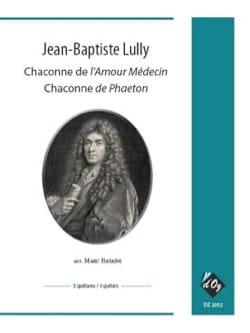 Chaconne de l'Amour Médecin LULLY Partition Guitare - laflutedepan