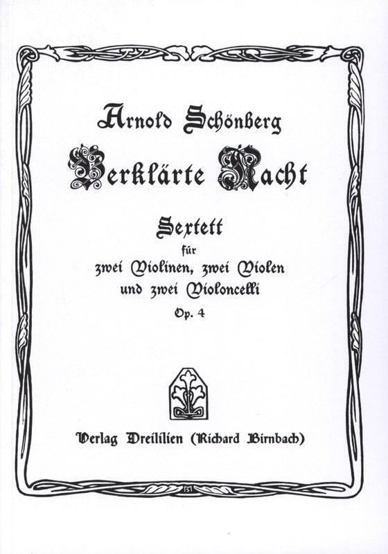 Verklärte Nacht op. 4 Sextett - Partitur - laflutedepan.com
