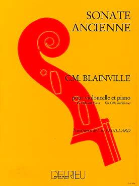 Sonate ancienne Charles-Henri de Blainville Partition laflutedepan
