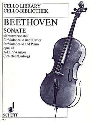 Sonate A-Dur, op. 47 BEETHOVEN Partition Violoncelle - laflutedepan
