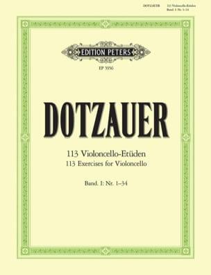 113 Etudes pour violoncelle - cahier 1 Friedrich Dotzauer laflutedepan