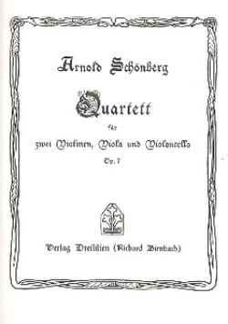 Streichquartett Nr. 1 op. 7 - Partitur SCHOENBERG laflutedepan