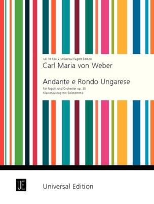 Andante e Rondo Ungarese Carl Maria von Weber Partition laflutedepan