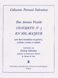 Concerto N°3 En Sol Maj - VIVALDI - Partition - laflutedepan.com