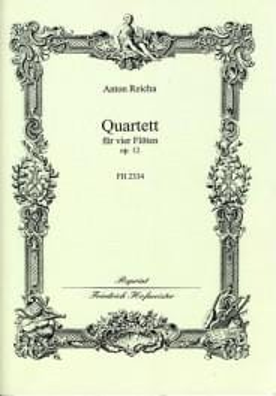 Quartett op. 12 - 4 Flöten REICHA Partition laflutedepan